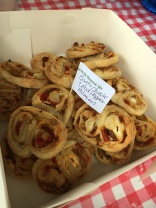 Goats cheese and red pepper palmiers
